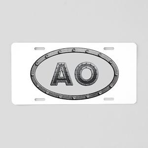 AO Metal Aluminum License Plate