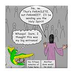 Parakeet vs Paraclete Tile Coaster