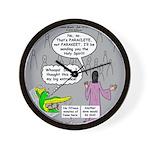 Parakeet vs Paraclete Wall Clock