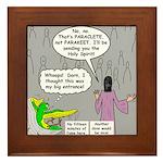 Parakeet vs Paraclete Framed Tile