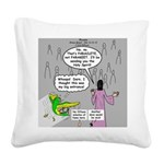 Parakeet vs Paraclete Square Canvas Pillow