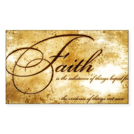 faith is gold vintage Sticker (Rectangle)