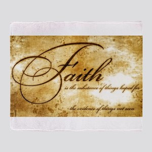 faith is gold vintage Throw Blanket
