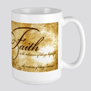 faith is gold vintage Large Mug