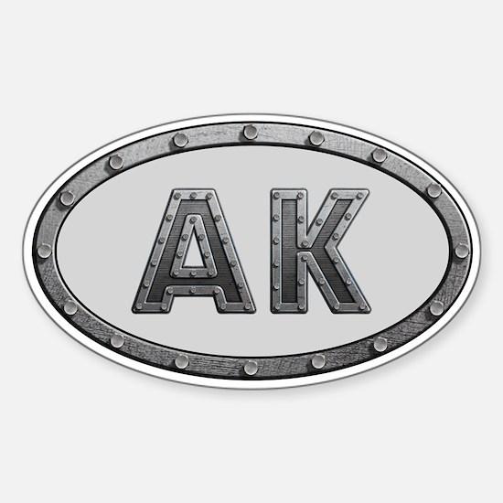 AK Metal Sticker (Oval)