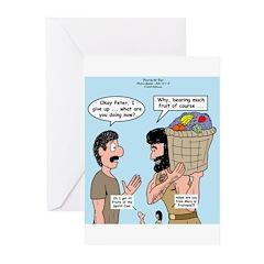 Peter Bearing Fruit Greeting Cards (Pk of 20)