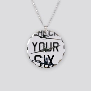 Check Your Six Necklace Circle Charm