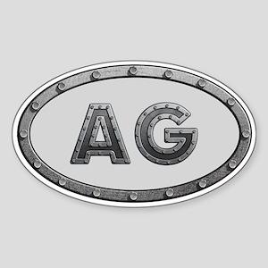 AG Metal Sticker (Oval)