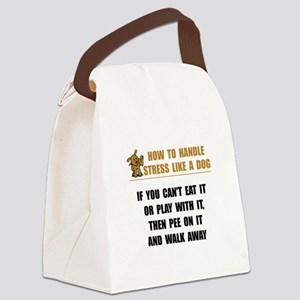 Stress Like Dog Canvas Lunch Bag