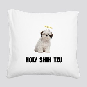 Holy Shih Tzu Square Canvas Pillow