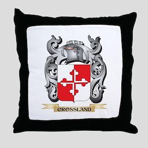 Crossland Family Crest - Crossland Co Throw Pillow