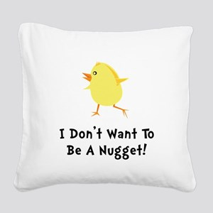 Chicken Nugget Square Canvas Pillow