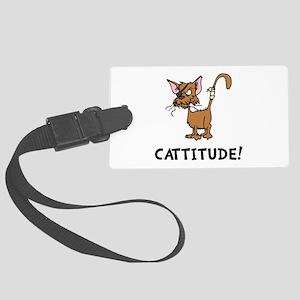 Cattitude Large Luggage Tag