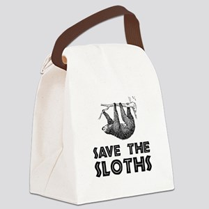 Save The Sloths Canvas Lunch Bag