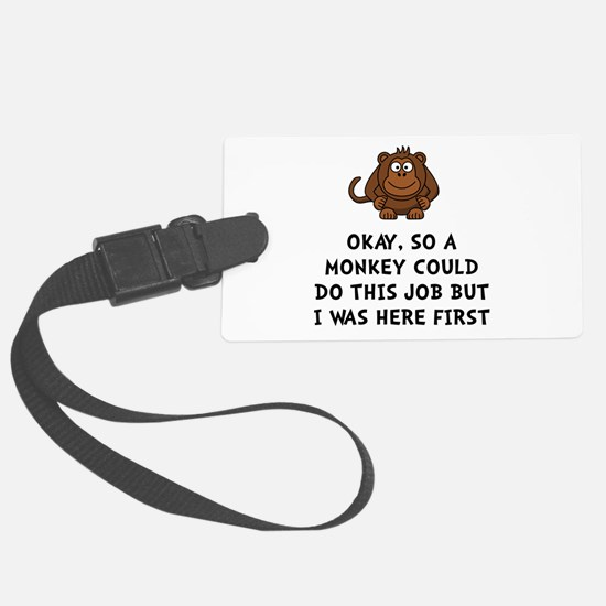 Monkey Job Luggage Tag
