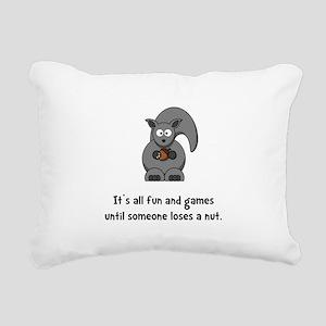 Squirrel Nut Black Rectangular Canvas Pillow