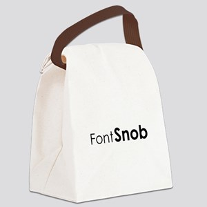Font Snob Canvas Lunch Bag