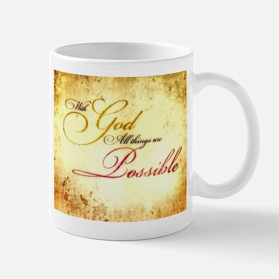 with god gold vintage Mug