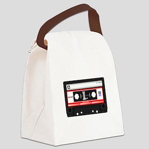Cassette Black Canvas Lunch Bag