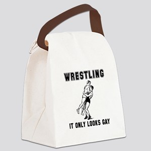 Wrestling Looks Gay Canvas Lunch Bag