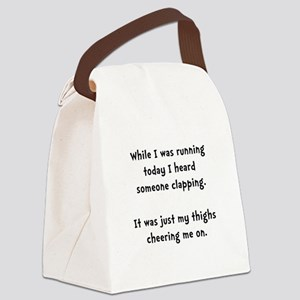 Running Thigh Cheer Canvas Lunch Bag