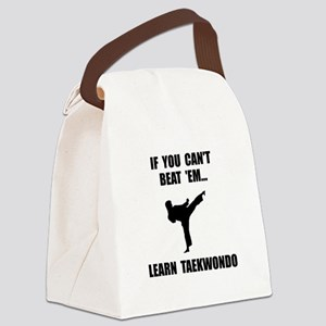 Learn Taekwondo Canvas Lunch Bag