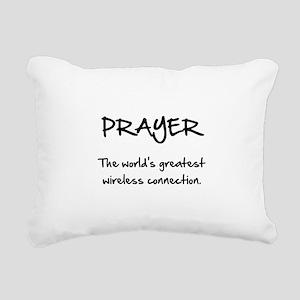 Prayer Wireless Rectangular Canvas Pillow