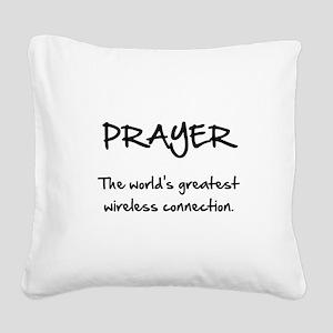 Prayer Wireless Square Canvas Pillow