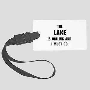 Lake Calling Large Luggage Tag