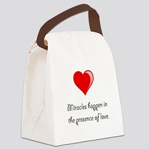 Miracles Love Canvas Lunch Bag