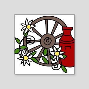 """Wagon Wheel Square Sticker 3"""" x 3"""""""