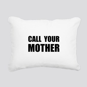Call Your Mother Black Rectangular Canvas Pill
