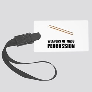 Drum Mass Percussion Large Luggage Tag