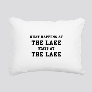 Happens At Lake Rectangular Canvas Pillow