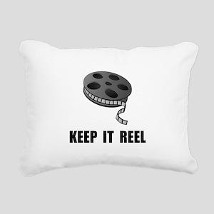 Keep Movie Reel Rectangular Canvas Pillow