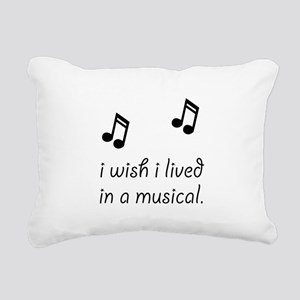 Live In Musical Rectangular Canvas Pillow
