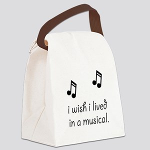Live In Musical Canvas Lunch Bag