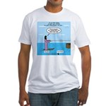 Jesus Waterskiing Fitted T-Shirt