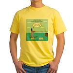 Jesus Waterskiing Yellow T-Shirt