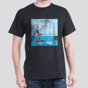 Jesus Waterskiing Dark T-Shirt