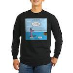 Jesus Waterskiing Long Sleeve Dark T-Shirt