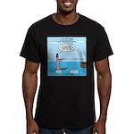 Jesus Waterskiing Men's Fitted T-Shirt (dark)