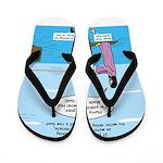 Jesus Waterskiing Flip Flops