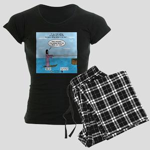 Jesus Waterskiing Women's Dark Pajamas