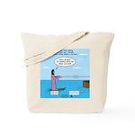 Jesus Waterskiing Tote Bag