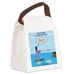 Jesus Waterskiing Canvas Lunch Bag