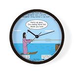 Jesus Waterskiing Wall Clock