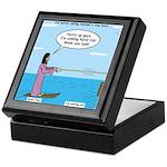 Jesus Waterskiing Keepsake Box