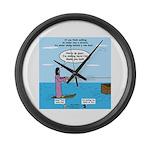Jesus Waterskiing Large Wall Clock