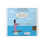 Jesus Waterskiing Throw Blanket